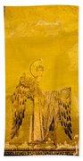 Guardian Angel Byzantine Art Beach Towel