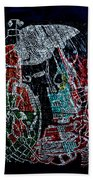 Guardian Knight  Of The Orient Beach Towel