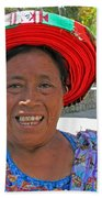 Guatemalan Village Woman Beach Towel