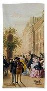 Guerard: Cafe Tortoni, 1856 Beach Towel