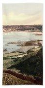 Guernsey - Rocquaine Bay - Channel Islands - England Beach Towel