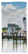 Gulfport Harbor Beach Towel