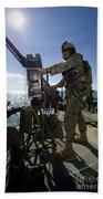 Gunner Mans A M240 Machine Gun Beach Towel