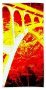Haceta Head Bridge In Abstract Beach Towel