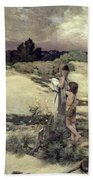 Hagar And Ishmael Beach Towel
