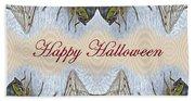 Halloween Fantasmagorical Cicada Card Beach Towel