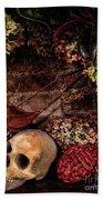 Halloween Still Life Beach Towel by Joan  Minchak