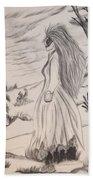 Halloween Witch Walk Beach Towel