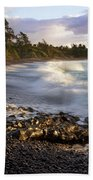 Hana Beach And Wave Beach Towel