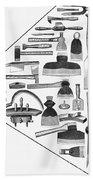 Hand Tools, 1876 Beach Towel