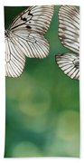 Handkerchief Butterfly Or Wood Nymph Beach Towel