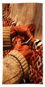Hands Of The Carpet Weaver Beach Towel