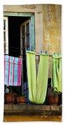 Hanged Clothes Beach Towel by Carlos Caetano