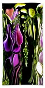 Hanging Vine From Photo Of Digitalis 1 Per Gimp Beach Towel