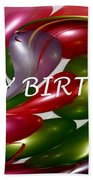 Happy Birthday - Balloons Beach Towel by Kaye Menner