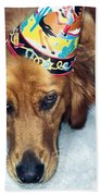 Happy Happy Birthday Buddy Beach Towel