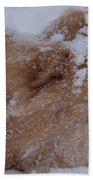 Happy Holidays Christmas Card Beach Towel