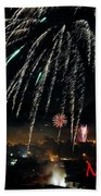 Happy New Year Card Beach Towel
