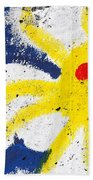 Happy Sun Face Beach Towel