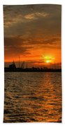 Harbor Sunrise Beach Towel