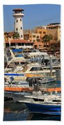 Harbor Waterfront In Cabo San Lucas Beach Towel
