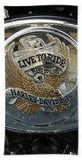 Harley Davidson Bike - Chrome Parts 44c Beach Towel