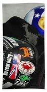Harley Helmets Beach Towel