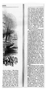Harpers Magazine, 1861 Beach Towel