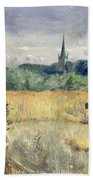 Harvest Field At Stratford Upon Avon Beach Towel