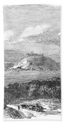 Havana, Cuba, 1851. /na View Of The Harbor And Fort Of Atares. Wood Engraving, English, 1851 Beach Towel