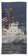 He U.s. Coast Guard Cutter Adak Beach Towel