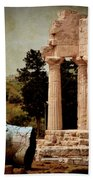 Head At Temple Of Castor And Pollux Beach Towel