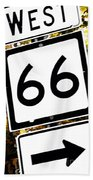 Heading West On Route 66 Beach Towel