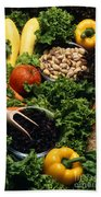 Healthy Foods Beach Sheet