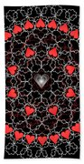 Hearts And Lace 2012 Beach Towel