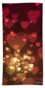 Hearts Background Beach Towel