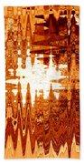 Heat Wave - Abstract Art Beach Towel