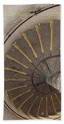 Helical Stairway Beach Towel