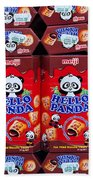 Hello Panda Biscuits Beach Towel