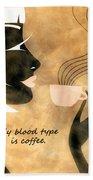 Her Blood Type Beach Sheet