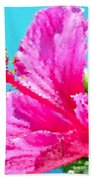 Hibiscus Crystal Luster Beach Towel