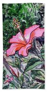 Hibiscus Sketchbook Project Down My Street  Beach Towel by Irina Sztukowski
