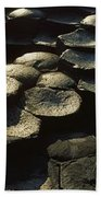 High Angle View Of Basalt Rocks, Giants Beach Towel