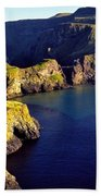 High Angle View Of Rock Formations In Beach Towel