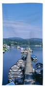 High Angle View Of Rowboats In The Beach Towel