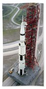 High Angle View  Of The Apollo 15 Space Beach Towel