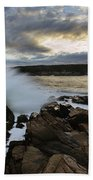 High Tide At Otter Point Beach Towel