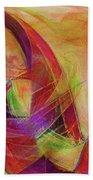 High Vibrational Beach Towel by Linda Sannuti