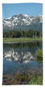 High Water Mt Tallac Reflections Beach Towel