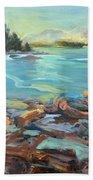 Highest Tide Rebecca Spit Beach Towel